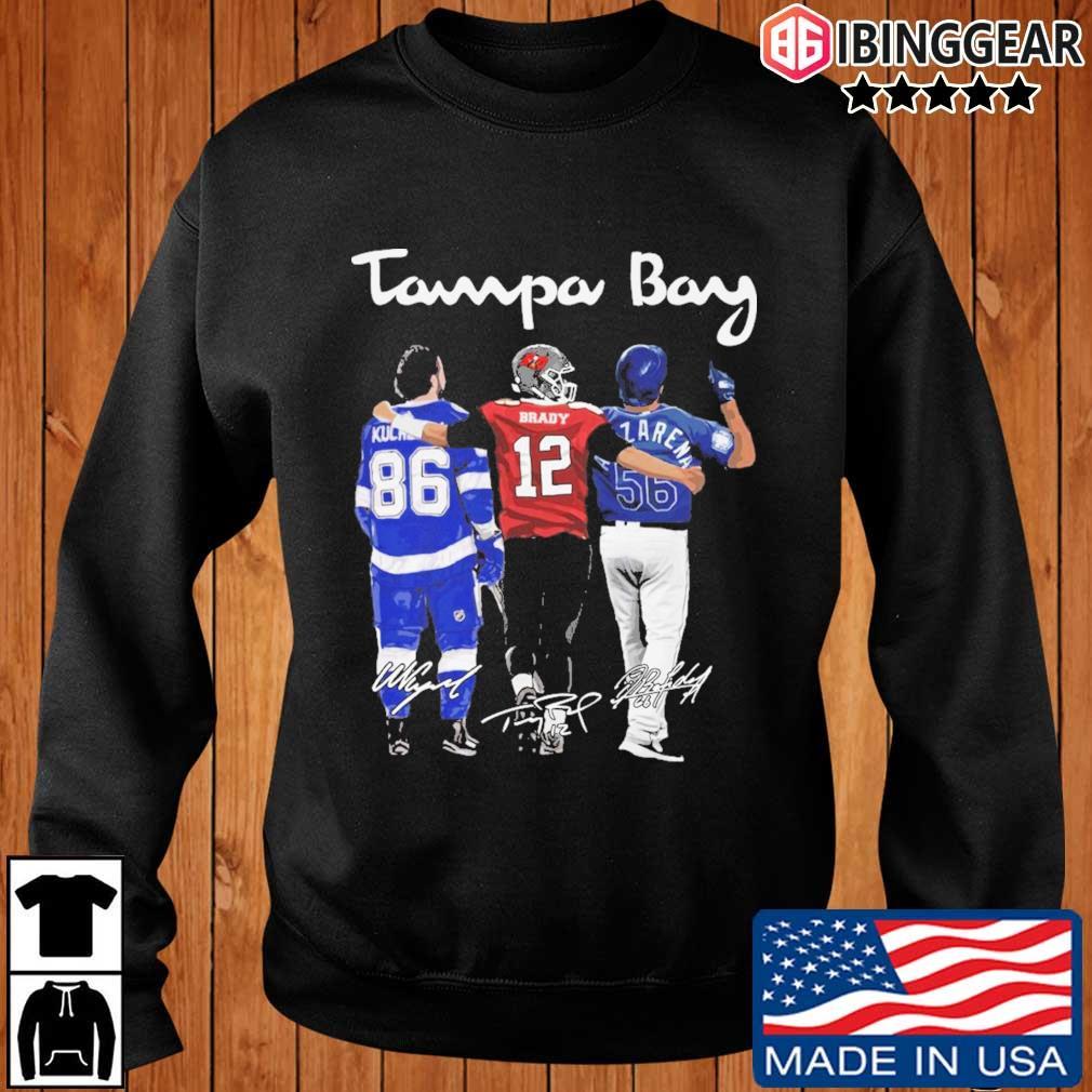 Tampa Bay Nikita Kucherov Brady Randy Arozarena signatures s Ibinggear sweater den