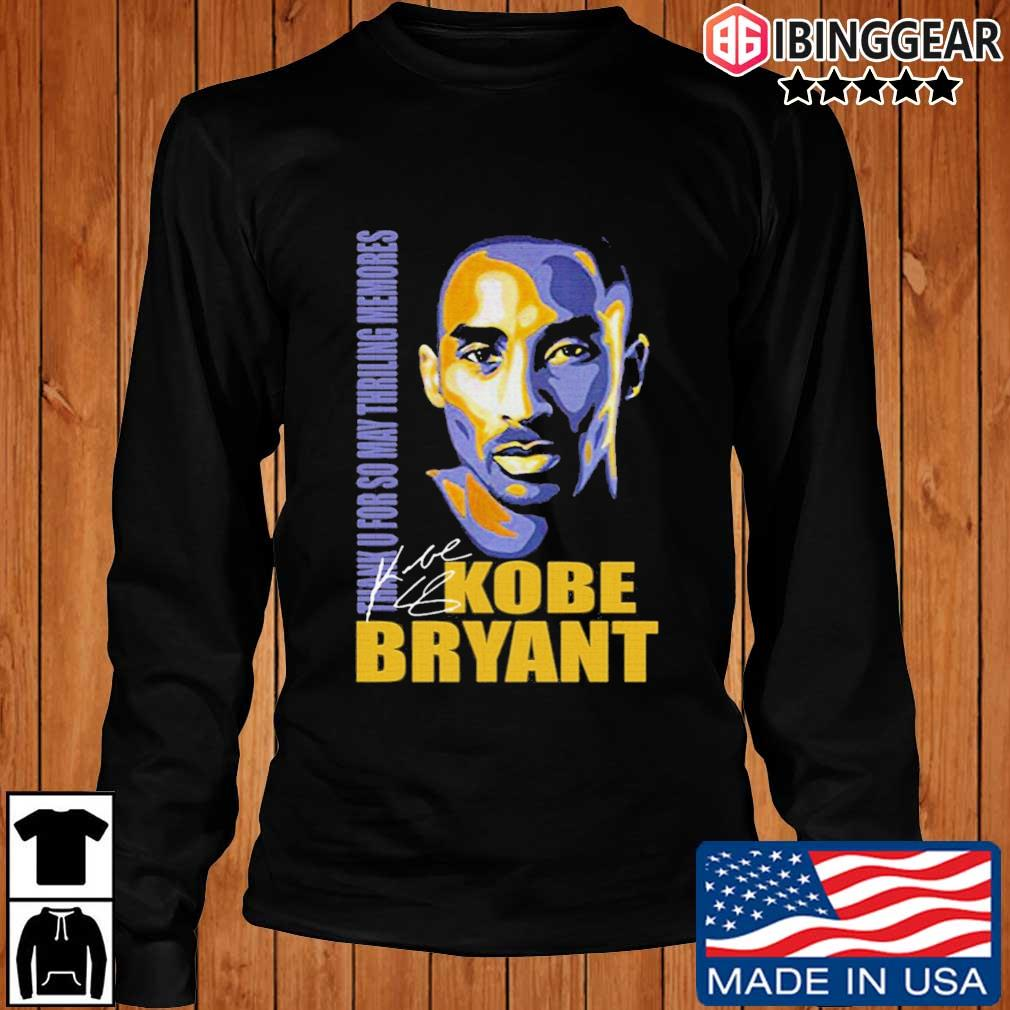 Thank You So May Thrilling Memories With Kobe Bryant Signature Shirt Longsleeve Ibinggear den