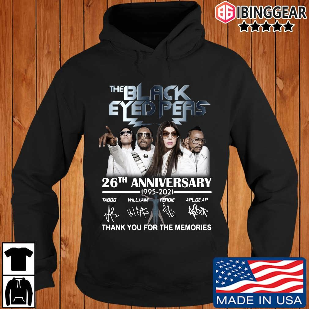 The Black Eyed Peas 26th anniversary 1995-2021 thank you for the memories signatures s Ibinggear hoodie den