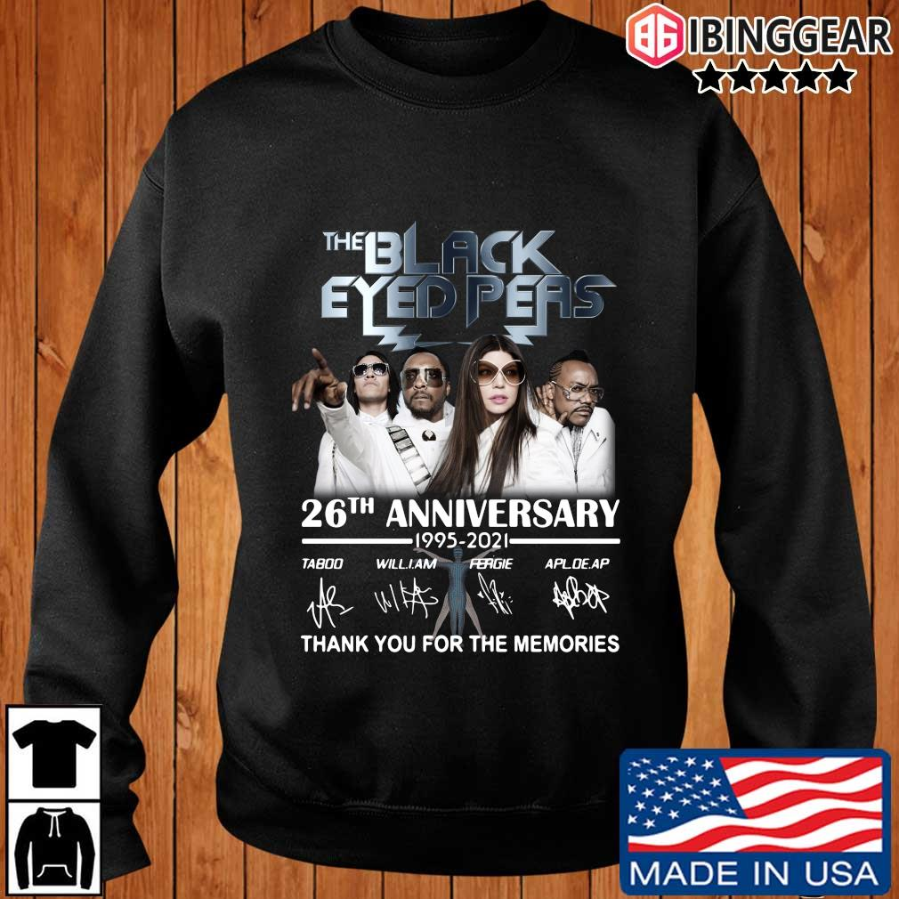 The Black Eyed Peas 26th anniversary 1995-2021 thank you for the memories signatures shirt